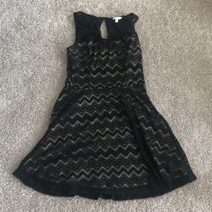 Candies juniors L black dress!